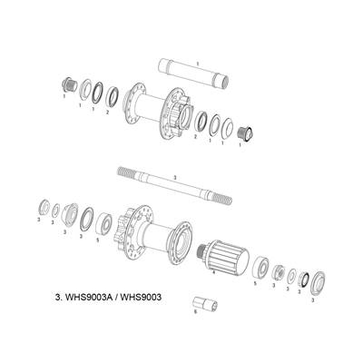KIT AXLE ASSY X-9 V2 REAR
